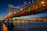 Happy Holidays from the Bay Bridge Photographic Print by Aaron Meyers