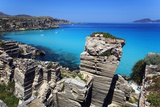 Cala Rossa, Tufa Rock and Sea, Egadi Islands Photographic Print by Aldo Pavan