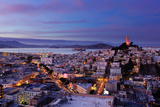 Coit Tower and North Beach at Dusk Photographic Print by Photo by Brandon Doran