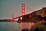 Golden Gate Bridge at Sun Down Photographic Print by James D. Wilson, Jr.
