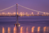 Bay Bridge at Dusk Photographic Print by Sean Duan