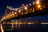 Bay Bridge in Front of San Francisco Skyline Photographic Print by Blue Hour Photography