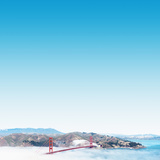 San Francisco Golden Gate Bridge in the Middle of Clouds Photographic Print by  franckreporter