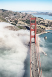 San Francisco Golden Gate Bridge from Aircraft Photographic Print by  franckreporter