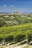Vineyards and Village, Serralunga D'alba Photographic Print by Massimo Ripani