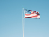 American Flag with Vintage Look Photographic Print by William Andrew