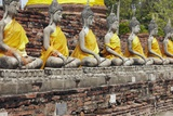 Buddha Statues at Wat Yai Chai Mongkhon Photographic Print by Richard Taylor