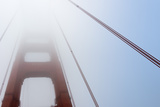Close-Up of Golden Gate Bridge in Fog, San Francisco, California, USA Photographic Print by Damir Frkovic