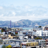 San Francisco with a View of the Golden Gate Photographic Print by Elisabeth Pollaert Smith