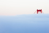 Usa, California, San Francisco, Golden Gate Bridge in Fog Photographic Print by  Westend61