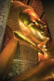 Wat Po, Reclining Golden Buddha Photographic Print by Huw Jones