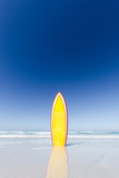 Retro Yellow Surf Board and Blue Sky. Australia. Photographic Print by John White Photos