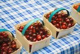 Mini Baskets of Cherries Photographic Print by Veronique Leplat
