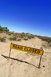 Road Closed Sign Photographic Print by Aldo Pavan