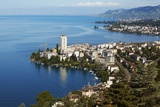 View of Lake Geneva and Montreux, Montreux Photographic Print by Richard Taylor