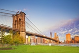 Brooklyn Bridge Park, Brooklyn Bridge, Manhattan, New York City, United States, USA Photographic Print by Pietro Canali/SOPA RF