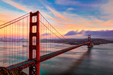 Golden Gate Sunset Photographic Print by (c) Swapan Jha