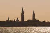 Skyline of Venice from San Michele Island at the Sunset, Venice, Venezia Photographic Print by Aldo Pavan