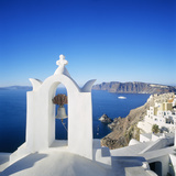Oia and the Crater, Santorini Island, Thera Photographic Print