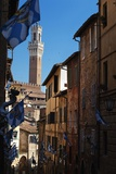 Torre Del Mangia the Day of the Palio, Siena Photographic Print by Maurizio Rellini
