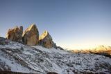 Tre Cime Di Lavaredo (Drei Zinnen) at Dawn, Alta Pusteria Photographic Print by Maurizio Rellini