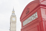Red Telephone Box and Big Ben London Photographic Print by John Harper