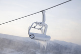Chair Lift Full of Snow and Ice Photographic Print by Tiina & Geir