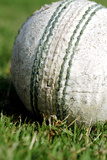 Close-Up of a Cricket Ball Photographic Print by  Visage