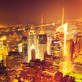 Aerial View over Manhattan Skyline Photographic Print by  franckreporter