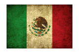 Grunge Flag of Mexico Póster por Graphic Design Resources
