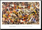 Convergence Framed Print Mount par Jackson Pollock