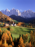Val Di Funes and the Dolomites Photographic Print by Brian Lawrence