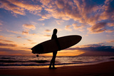 Sunset Surfer Photographic Print by The Sweets