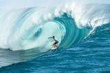 Billabong pro Teahupoo Surfing Fotografisk tryk af Will Hayden-Smith/ASP