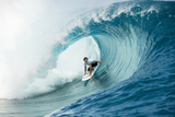 Billabong pro Teahupoo Surfing Fotografiskt tryck av Will Hayden-Smith/ASP