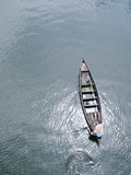 Person Sailing in Boat with Light Shining Photographic Print by Jisan Jahid Photography