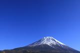 Mount Fuji and Blue Sky, Yamanashi Prefecture Photographic Print by  SHOSEI/Aflo