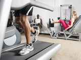 People Exercising in Health Club Photographic Print by Erik Isakson