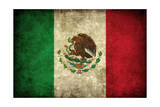 Grunge Mexican Flag Posters por Graphic Design Resources
