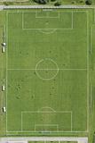 Soccer Filed, Aerial View Fotografisk trykk av Bernhard Lang