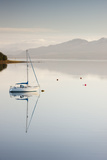 Yacht Moored on Banks of Loch Ainort on Isle of Skye, Scotland, UK (24Th January 2010) Photographic Print by David Clapp