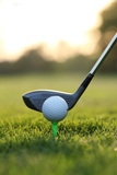 Close up of Golf Ball and Club on Course Fotografisk trykk av  Visage