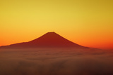 Mount Fuji and Sea of Clouds Photographic Print by  SHOSEI/Aflo