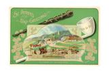 Saint Patrick's Day Greetings Postcard Giclee Print by David Pollack