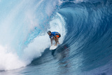 Billabong pro Teahupoo Surfing Photographic Print by Kirstin Scholtz