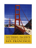 Southern Pacific's Four Scenic Routes Meet at San Francisco Travel Poster Giclee Print