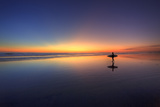 Surfer Walking on Rainbow Photographic Print by Eric Lo