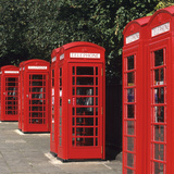 Traditional Red Telephone Boxes in London, England Photographic Print by Hisham Ibrahim