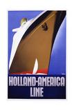 Holland-America Line by Ten Broek Wydruk giclee