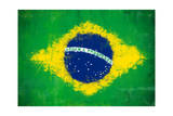 Brazil Painted Flag Prints by  jordygraph